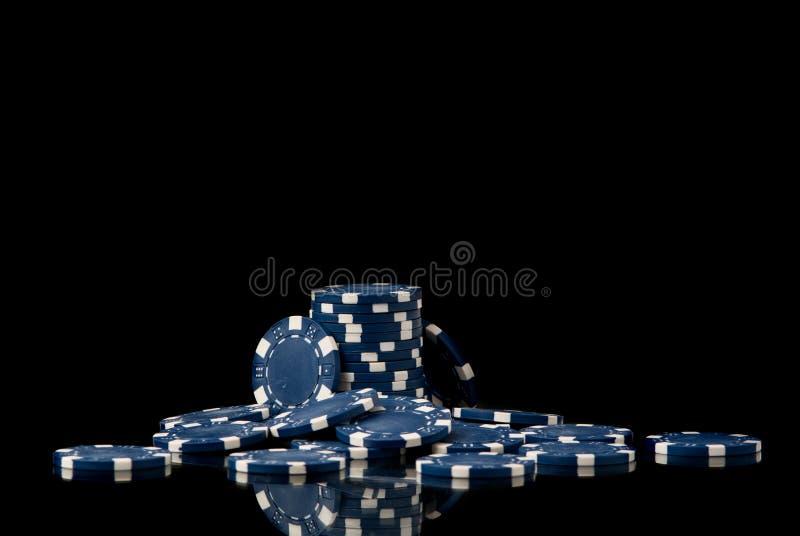 Microplaquetas de pôquer fotografia de stock