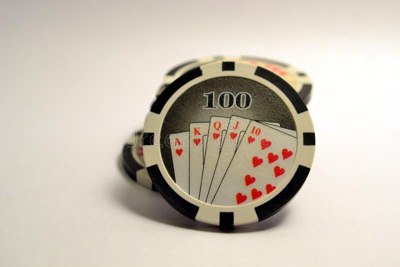 100 microplaquetas de pôquer imagem de stock royalty free