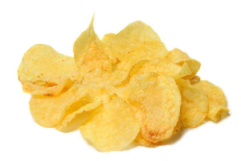Microplaquetas de Potatoe imagem de stock royalty free