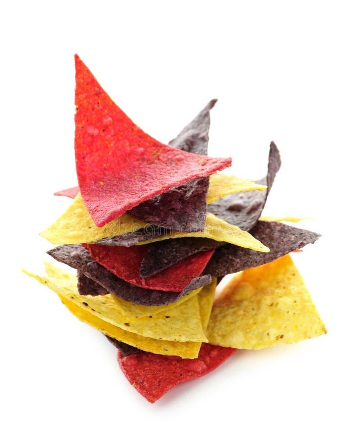 Microplaquetas de Tortilla imagem de stock royalty free