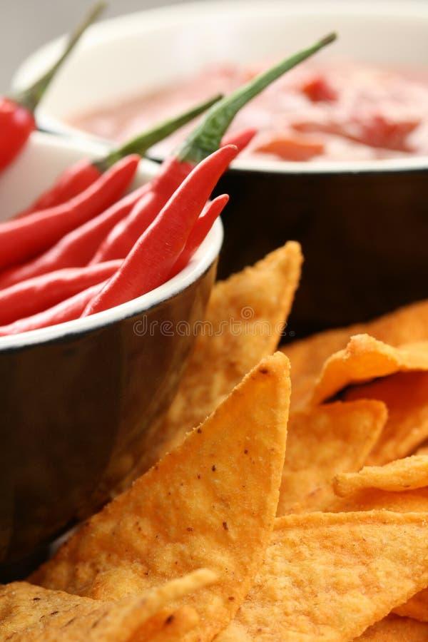 Microplaquetas de Tortilla imagens de stock