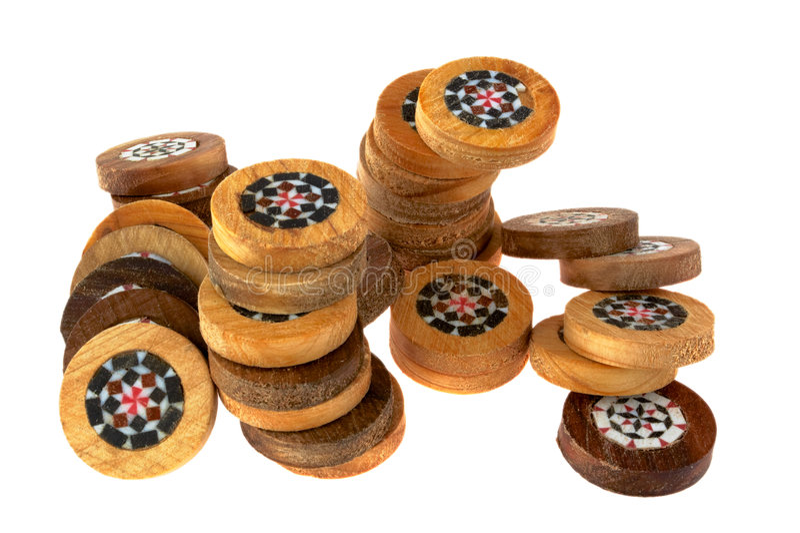 Microplaquetas do Backgammon fotografia de stock