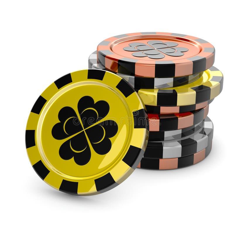 Microplaquetas do casino ilustração stock