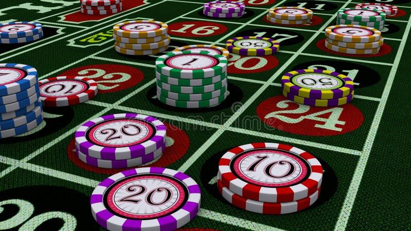Microplaquetas do casino ilustração royalty free