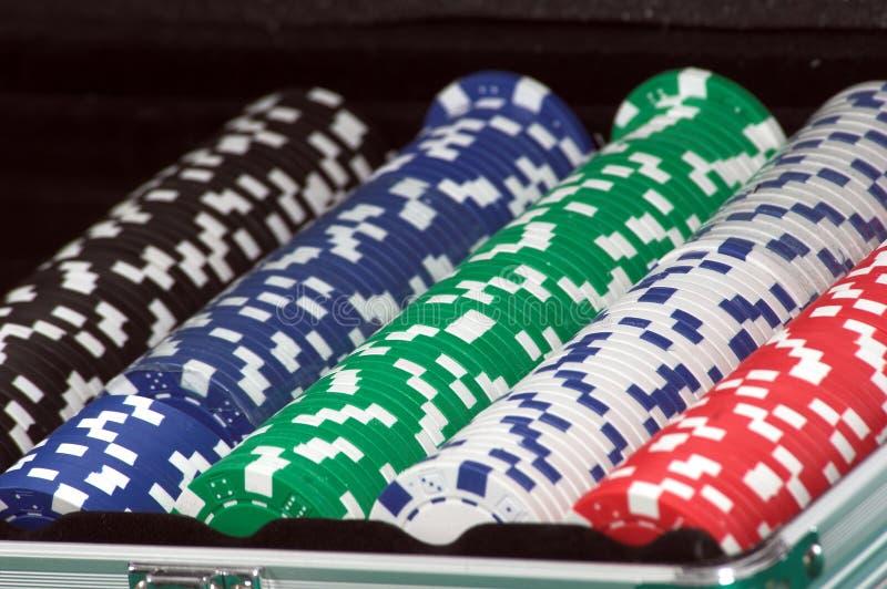 Microplaquetas do póquer fotografia de stock
