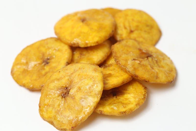 Microplaquetas doces da banana foto de stock
