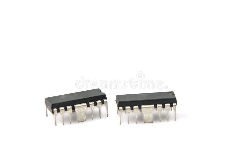 Microplaquetas eletrônicas fotos de stock royalty free