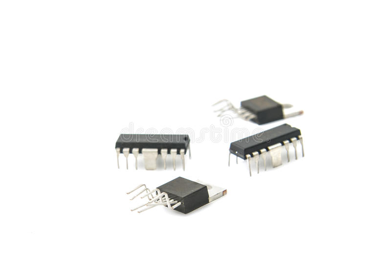 Microplaquetas eletrônicas foto de stock