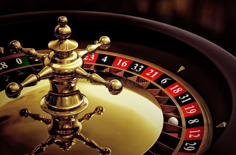 Microplaquetas & roleta do póquer ilustração do vetor