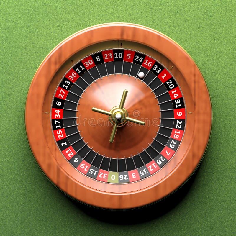 Microplaquetas & roleta do póquer ilustração stock
