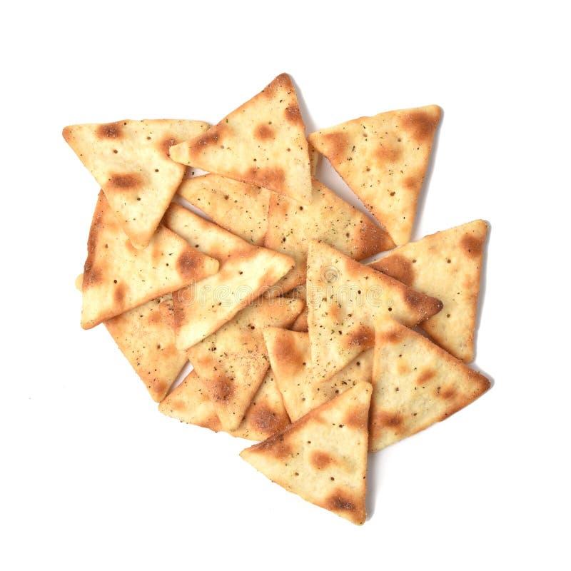 Microplaquetas temperados do pão árabe foto de stock royalty free