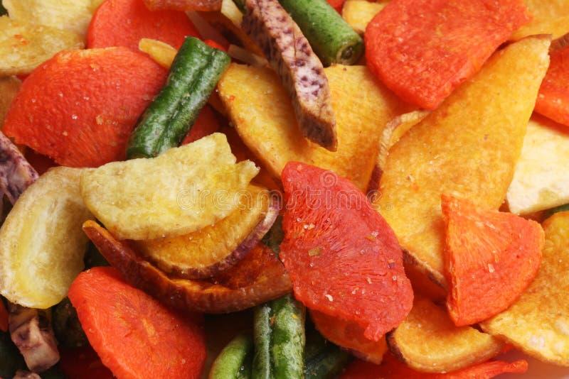 Microplaquetas vegetais misturadas. fotografia de stock