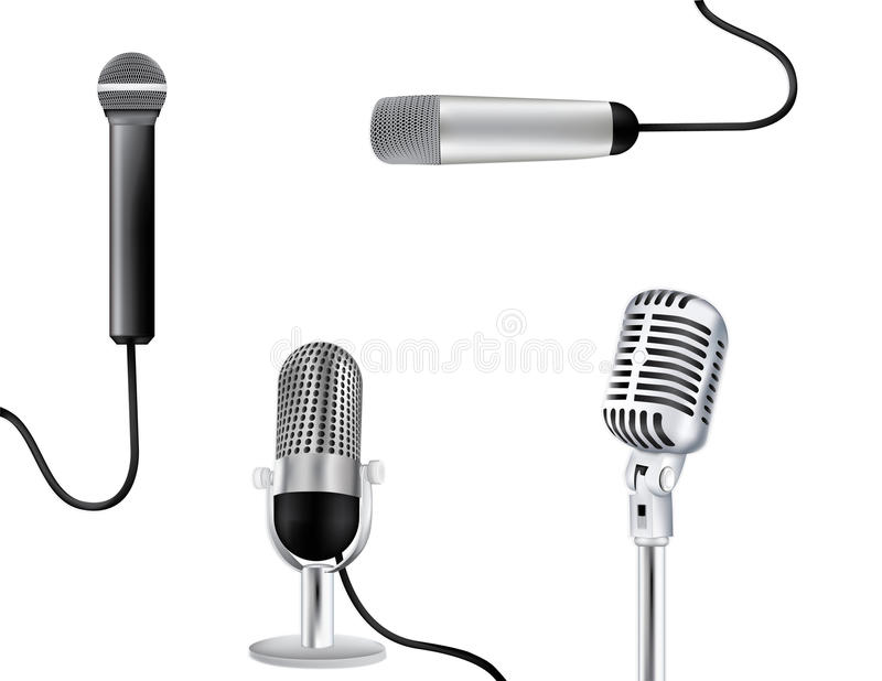 Micropones vector illustration royalty free stock photo