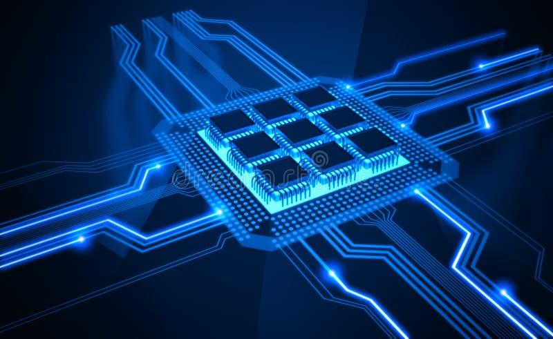 Microprocesador ilustración del vector