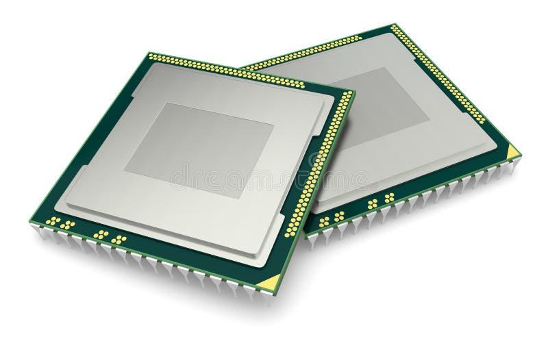 Microprocesador electrónico libre illustration