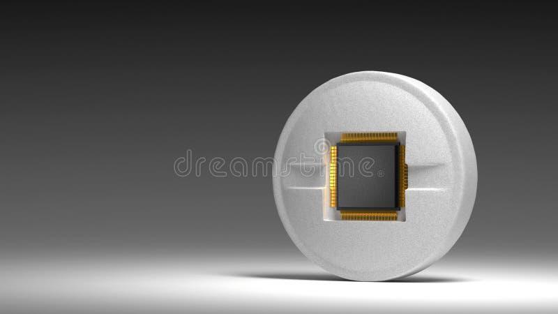 Microprocesador en píldora imágenes de archivo libres de regalías