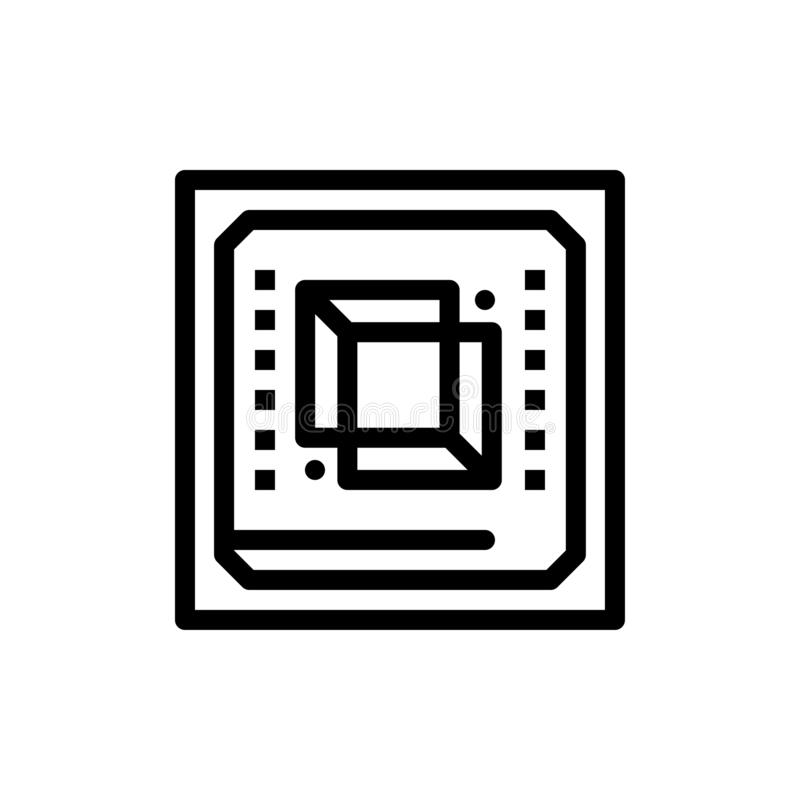 Microprocesador, ordenador, CPU, hardware, azul del procesador y transferencia directa roja y ahora comprar la plantilla de la ta libre illustration