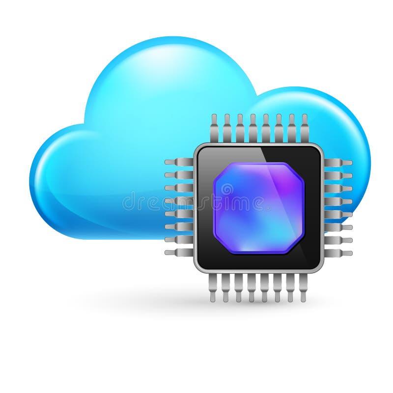 Microprocesador y nube libre illustration