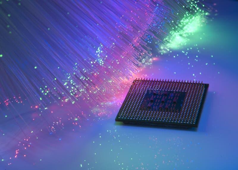 Microprocesadores centrales para un ordenador stock de ilustración