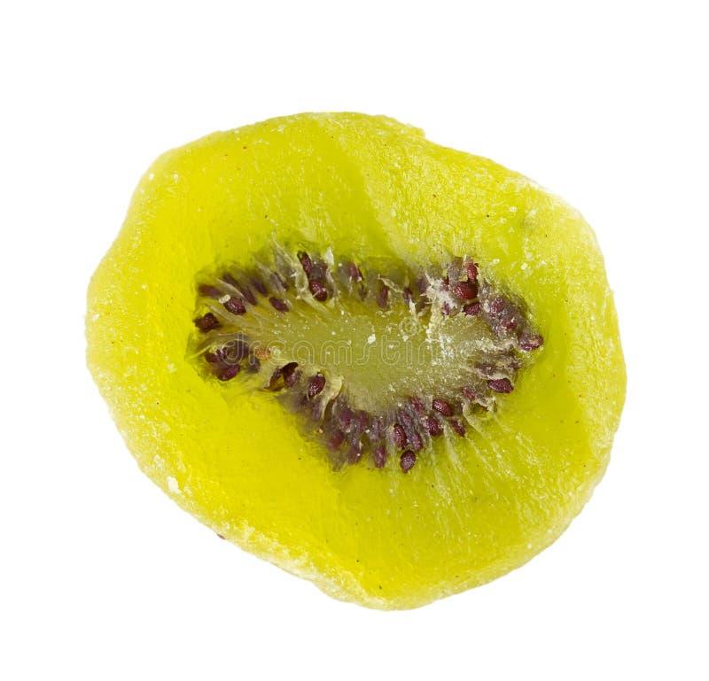 Microprocesadores de la fruta de kiwi secada imagenes de archivo