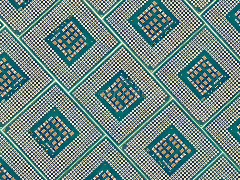Microprocesadores de procesador del ordenador imagen de archivo libre de regalías