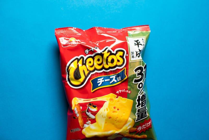 Microprocesadores del sabor del queso de Cheetos fotografía de archivo libre de regalías