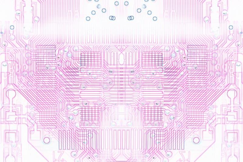 Microprocesadores rosados del fondo de la microelectrónica libre illustration