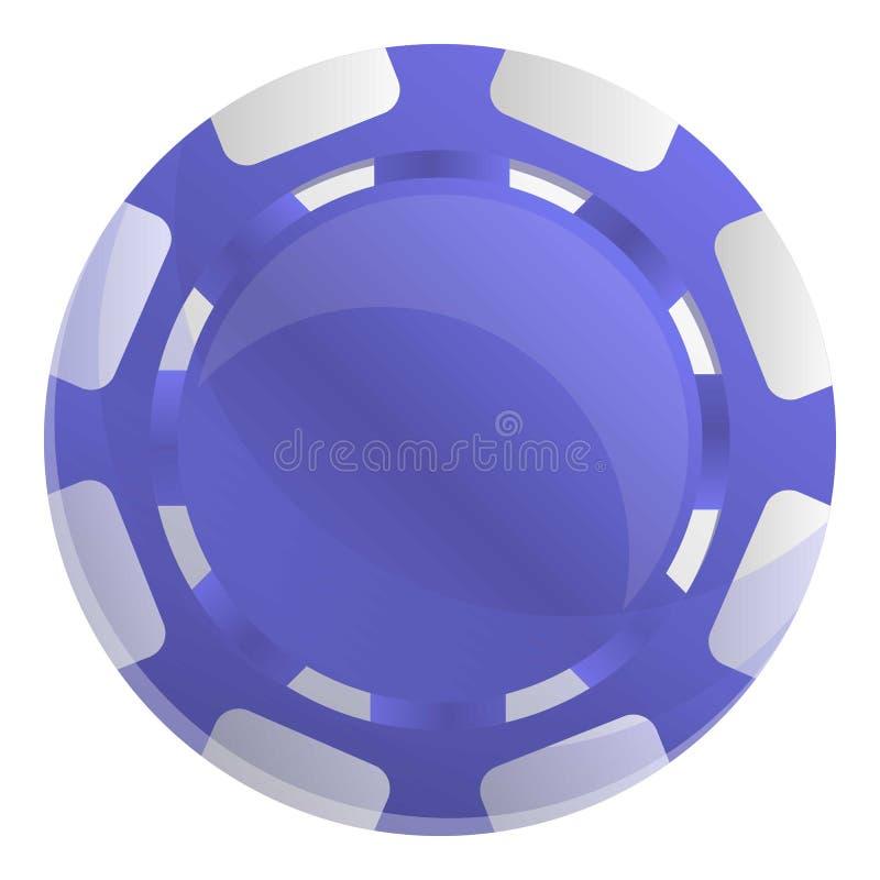 Microprocesadores violetas icono, estilo del casino de la historieta ilustración del vector