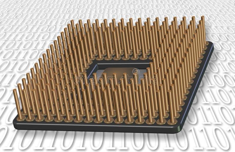 Microprocessor royalty-vrije illustratie