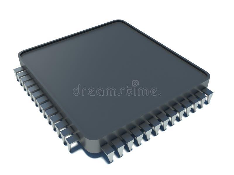 Microprocessor. 3d illustration on white background vector illustration
