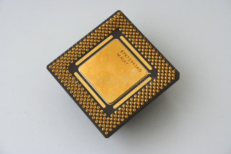 Download Microprocessore fotografia stock. Immagine di vista, dorato - 207202