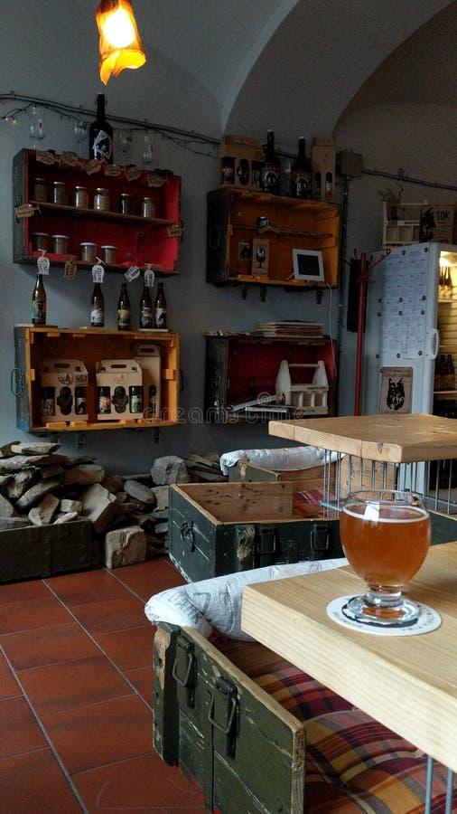 Micropub craft bar in Krakow Poland. Ursa Major bar - quirky interior royalty free stock images