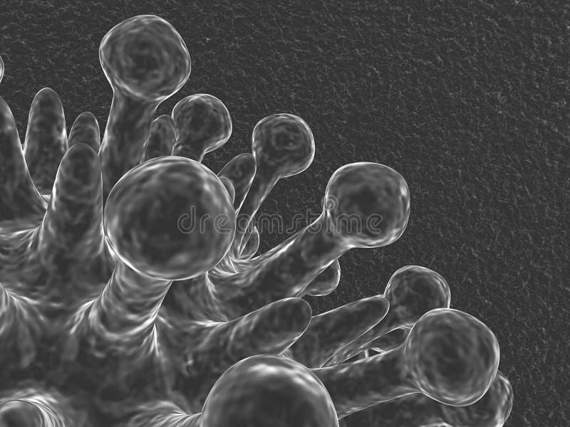 Microscópico ilustração stock