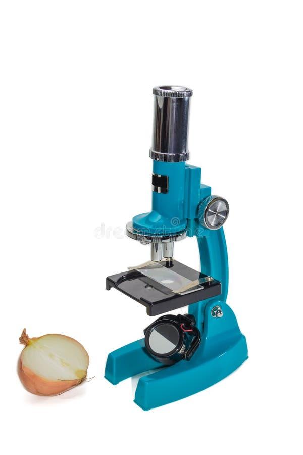 Microscópio da escola fotografia de stock royalty free