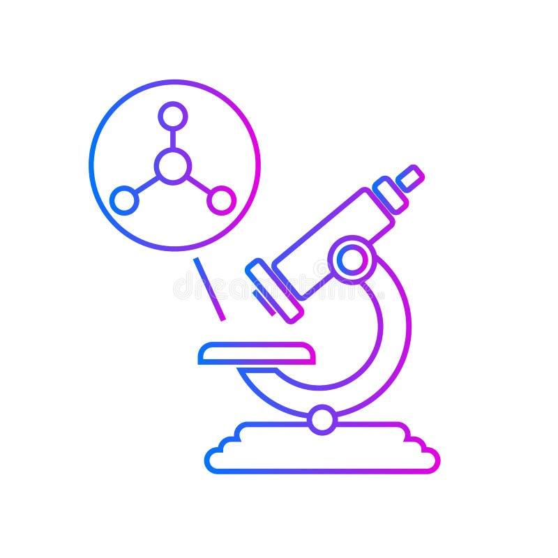 Microscópio e estrutura atômica ilustração royalty free