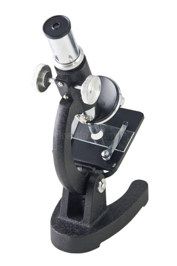 Microscópio isolado fotos de stock