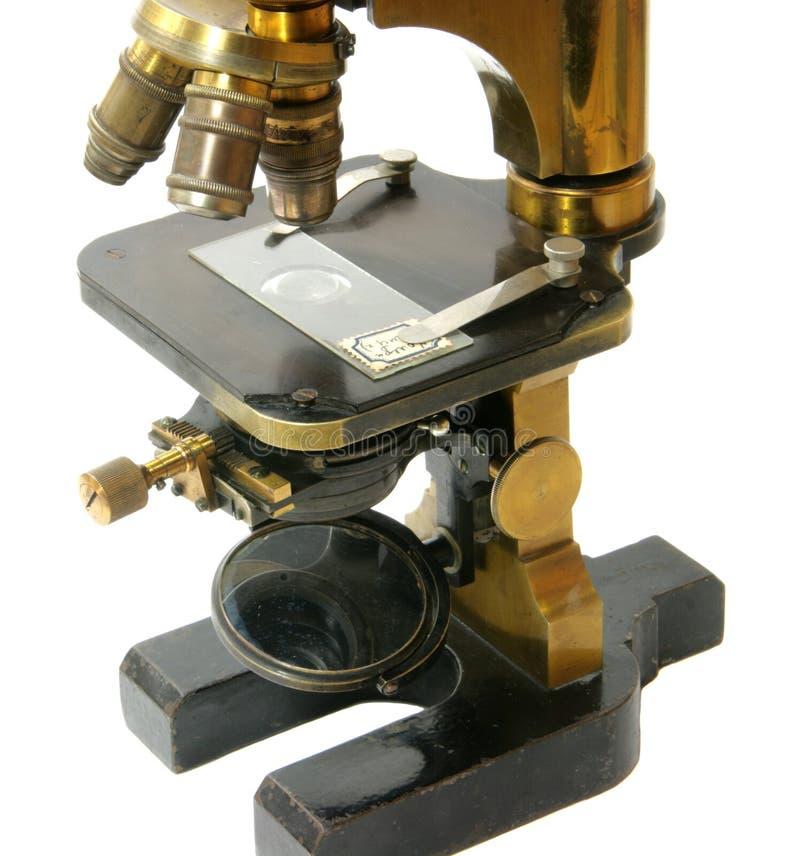 Microscópio velho fotos de stock