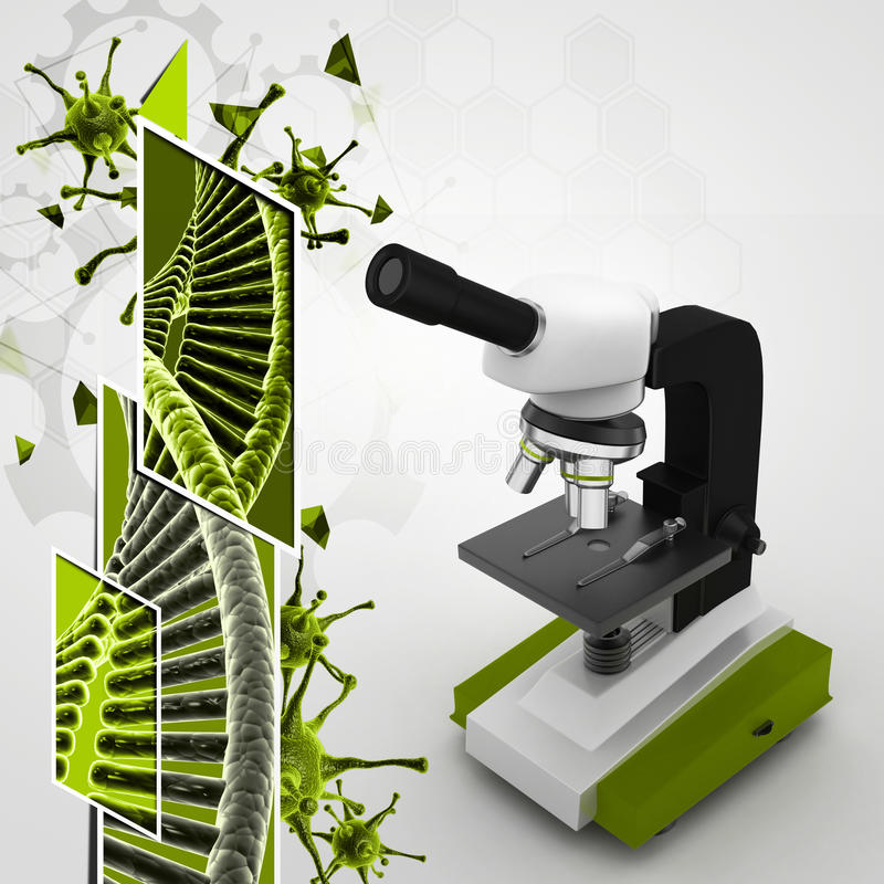 Microscoop stock illustratie