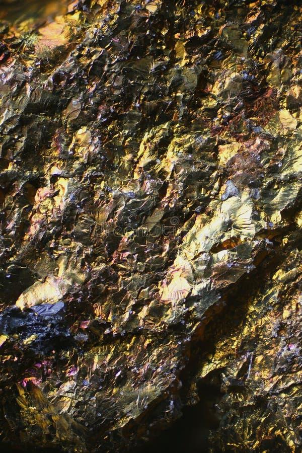 Microscoopbeeld van kleurrijk kopererts stock foto's