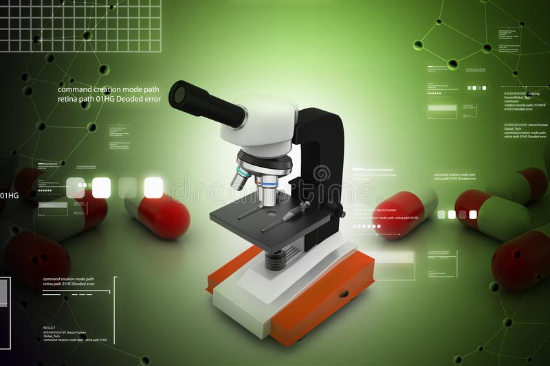 Microscope illustration libre de droits