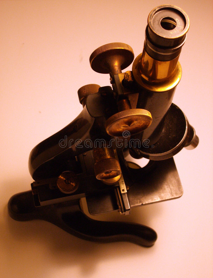 Microscope 20. This is an image of microscope that is over 50 years old stock image