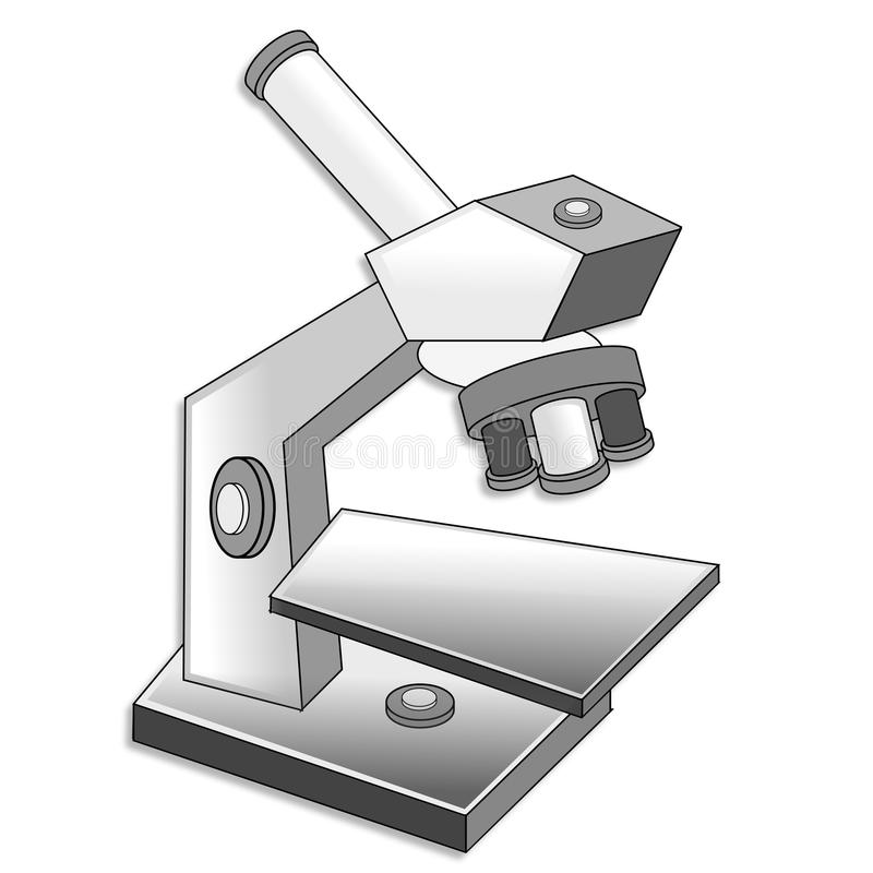 Microscope illustration de vecteur