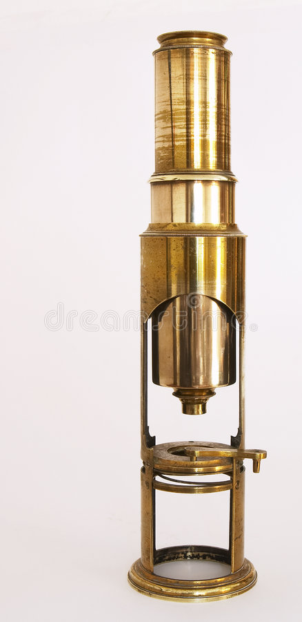 Microscope antique photographie stock