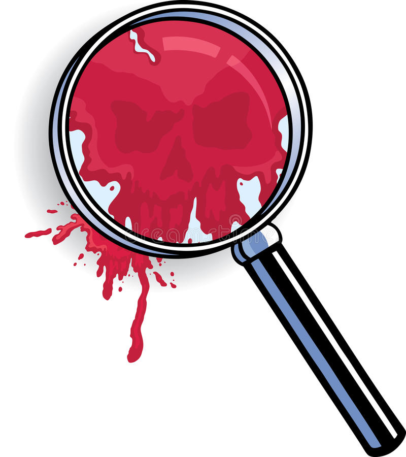 Download Microscope Blood Skull stock vector. Image of warning - 21156467