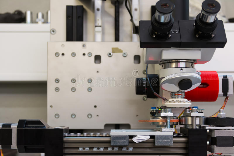 Microscope Camera Device Print Examine Industry Quality Machine. Tool White royalty free stock images