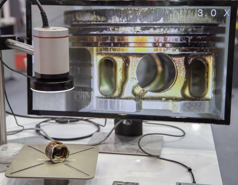 Microscope optique de l'aspérité 3D photographie stock