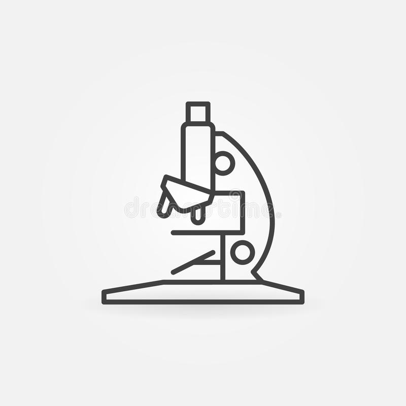 Microscope outline icon. Vector research and laboratory concept sign or logo element in thin line style vector illustration