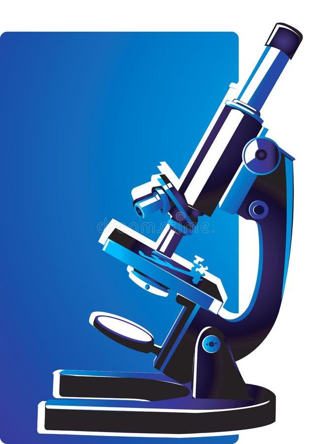 Microscope prêt à s'orienter illustration libre de droits