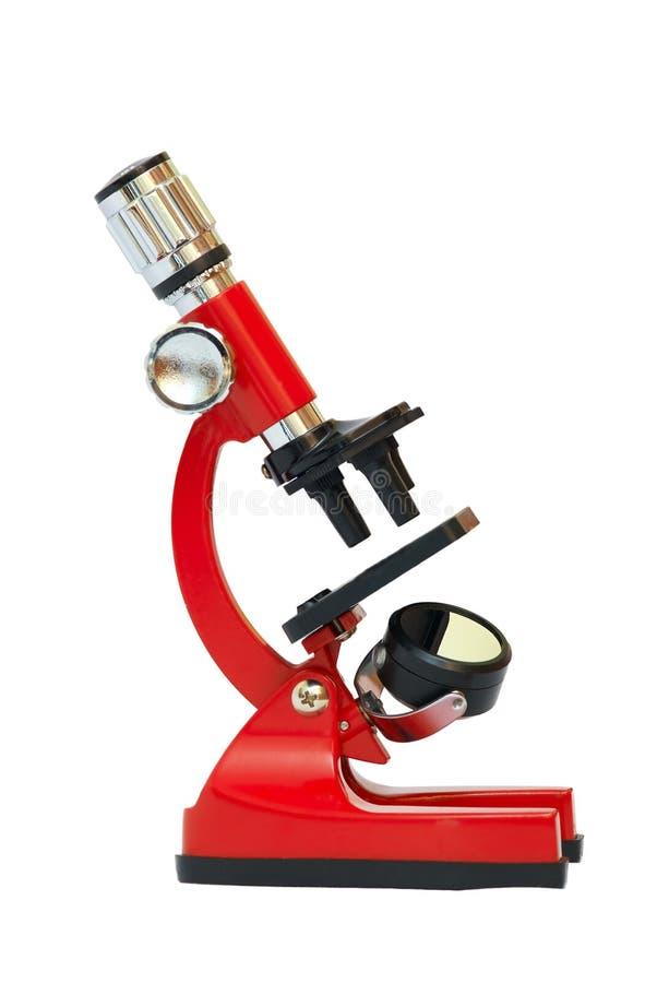 Microscope rouge photo libre de droits