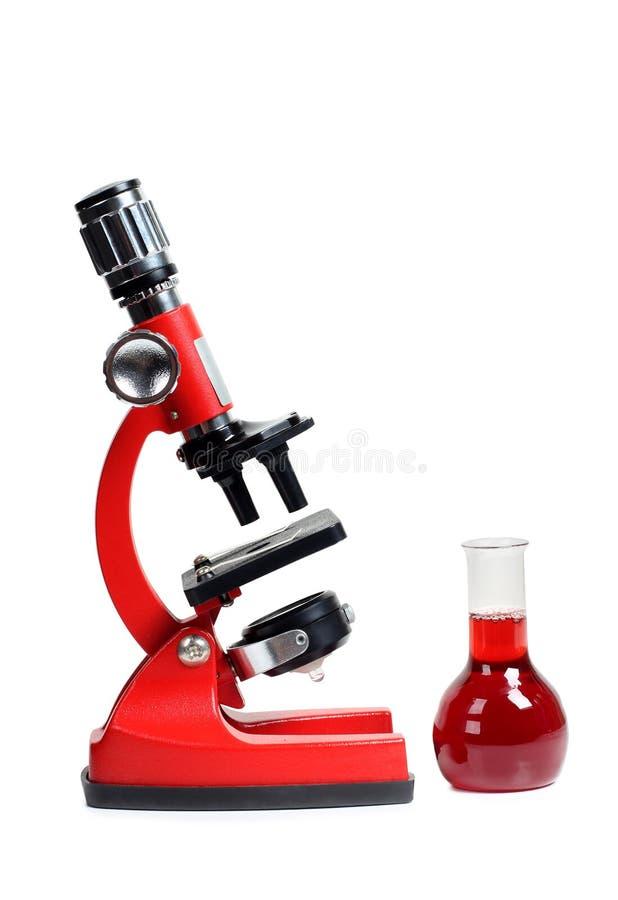 Microscope six de biologie images stock